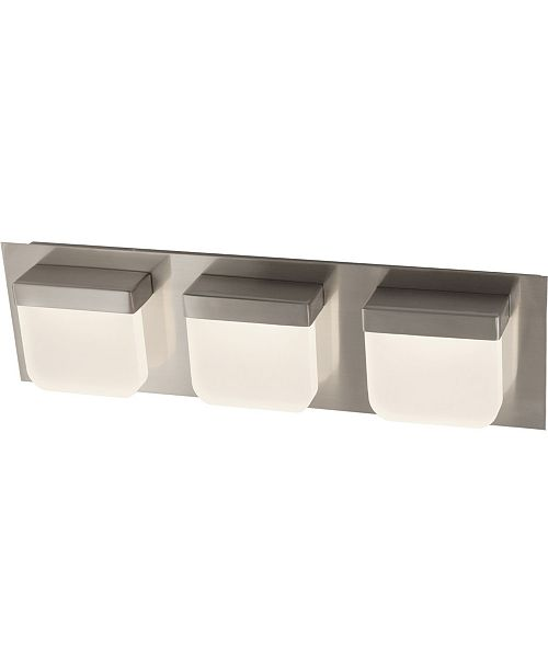 Volume Lighting 3-Light Integrated LED Bath or Vanity Bar Light or Wall Mount