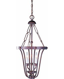 Minster 3-Light Candle-Style Cage Hanging Mini Chandelier Pendant