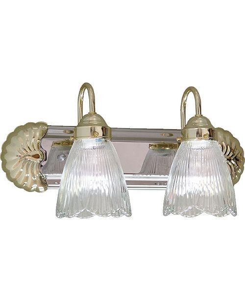 Volume Lighting 2-Light Bath or Vanity Light Bar or Wall Mount