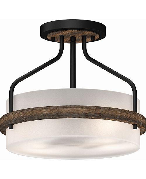 Volume Lighting Emery 2-Light Semi-Flush Mount Ceiling Fixture