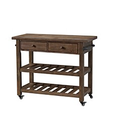 Orchard Park Two Drawer Kitchen Island, Quick Ship