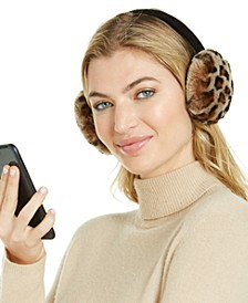 Printed Shearling Bluetooth Earmuffs