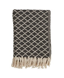 Diamond Tassel Throw