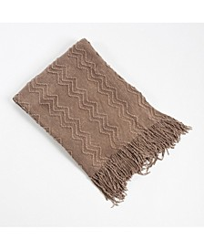 Knitted Zigzag Design Throw