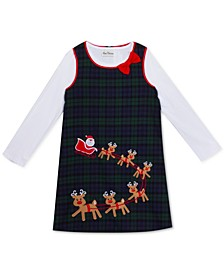 Little Girls Santa & Reindeer Jumper