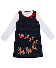 Rare Editions Little Girls Santa & Reindeer Jumper