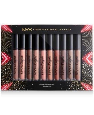 10-Pc. Love Lust Disco Lip Lingerie Liquid Lipstick Vault Set