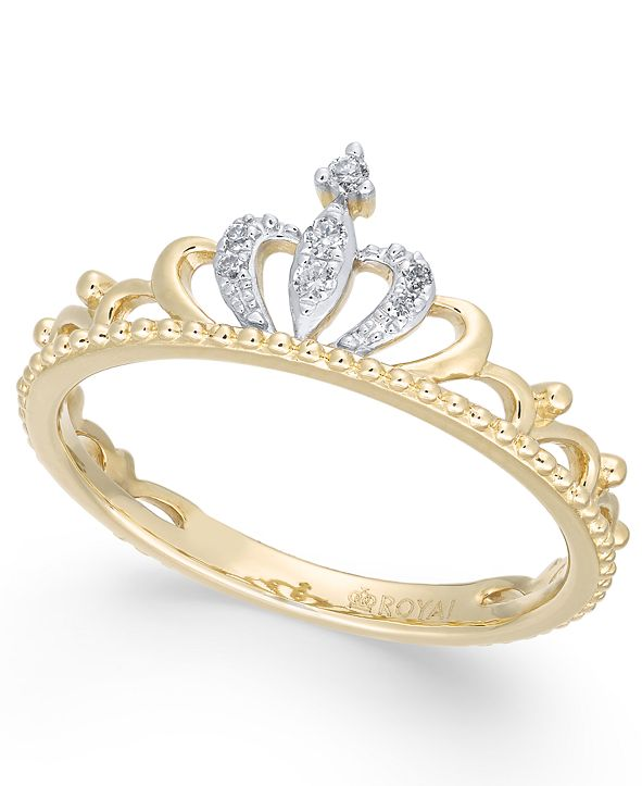 Macy's Diamond Tiara Ring (1/20 ct. t.w.) in 14k Gold