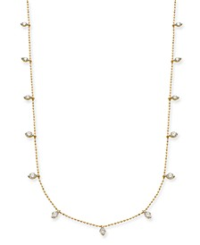 "Diamond Dangle 18"" Statement Necklace (1 ct. t.w.) in 14k Gold"
