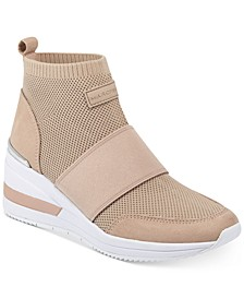 Muscle Knit Wedge Sneakers