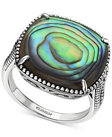 EFFY® Abalone Cushion Statement Ring in Sterling Silver