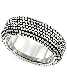 LEGACY for MEN by Simone I. SmithBlack Ion-Plated Ring in Stainless Steel