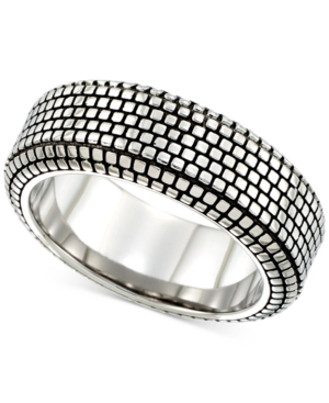 SmithBlack Ion-Plated Ring in Stainless Steel