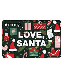 Love, Santa  E-Gift Card