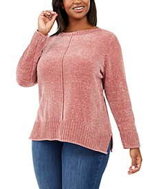 Plus Size Chenille Sweater, Created For Macy's