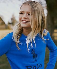 Little Girls Atlantic Terry Logo Sweatshirt