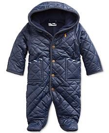 Polo Ralph Lauren Baby Boys Matte Microfiber Bunting Coat