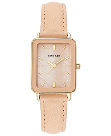 Women's Blush Leather Strap Watch 26x32mm