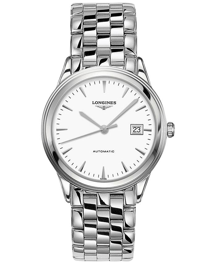 Longines - Men's Swiss Automatic Flagship Stainless Steel Bracelet Watch 39mm