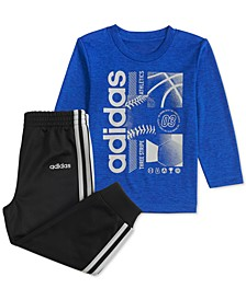 Baby Boys Sports-Print T-Shirt & Pants Set