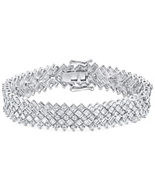 Diamond Statement Bracelet (8 ct. t.w.) in 14k White Gold