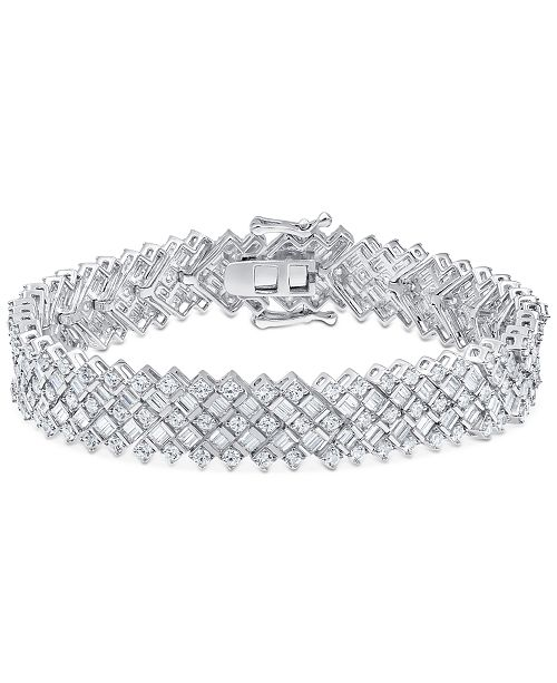 Macy's Diamond Statement Bracelet (8 ct. t.w.) in 14k White Gold