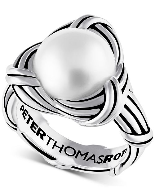 Peter Thomas Roth Freshwater Pearl (12mm) Knot Ring in Sterling Silver