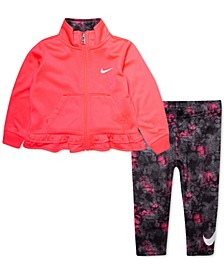 Baby Girls 2-Pc. Ruffle Jacket & Printed Leggings Set