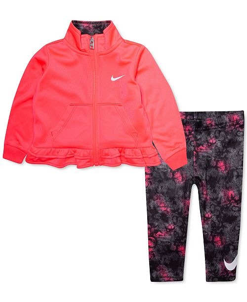 Nike Baby Girls 2-Pc. Ruffle Jacket & Printed Leggings Set