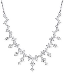 "Diamond Dangle 19"" Statement Necklace (2-1/2 ct. t.w.) in 14k White Gold, Created for Macy's"
