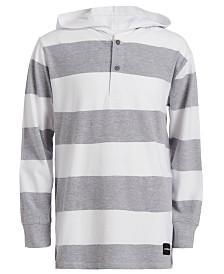 Calvin Klein Jeans Big Boys Rugby Stripe Hoodie