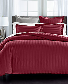 Charter Club Damask Stripe Supima Cotton 550-Thread Count 3-Pc. Bedding Collection