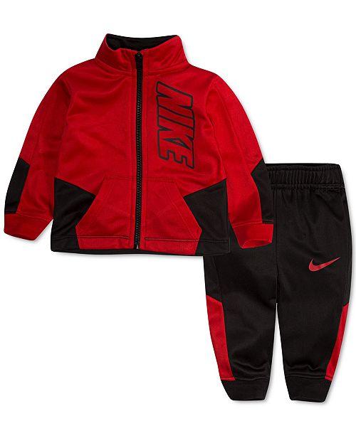 Nike Baby Boys 2-Pc. Colorblocked Jacket & Jogger Pants Track Set