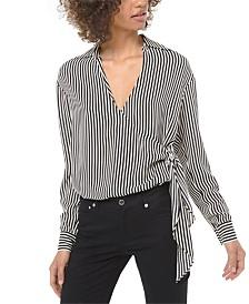 Michael Michael Kors Striped Tie Shirt