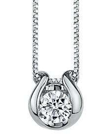 Sirena Diamond (1/4 ct. t.w.) Horseshoe Pendant in 14k White Gold