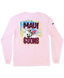 Maui and Sons Men's Wave Carver Logo Graphic T-Shirt