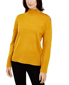 I.N.C. Side Zip-Up Sweater, Created For Macy's