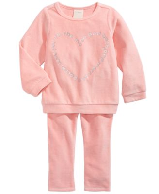 Toddler Girls Heart-Print Velour Top, Created For Macy's