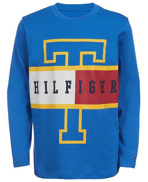 Tommy Hilfiger Big Boys Frank Colorblocked Logo T-Shirt