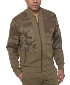 Sean John Men's Colorblocked Camo Track Jacket