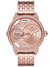 Diesel Women's Mini Daddy Rose Gold-Tone Stainless Steel Bracelet Watch 46mm