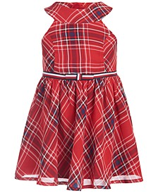 Baby Girls Plaid Chiffon Dress & Panty