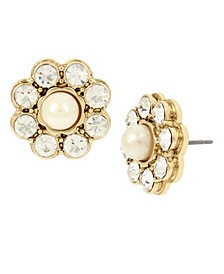Stone Flower Stud Earrings