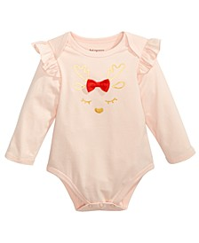 Baby Girls Reindeer Bodysuit, Created For Macy's