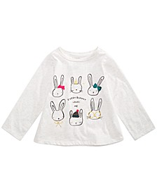 Baby Girls Bunnies-Print T-Shirt, Created For Macy's