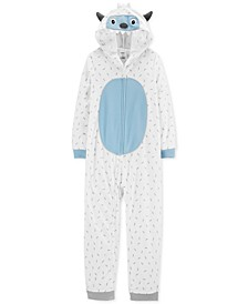 Little & Big Boys 1-Pc. Fleece Abominable Snowman Pajama