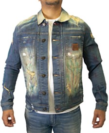 Heritage America Distressed Denim Trucker Jacket