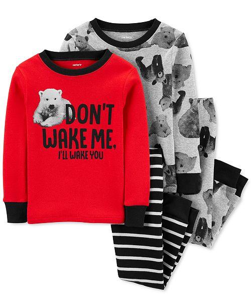 Carter's Baby Boys 4-Pc. Cotton Polar Bears Pajamas Set