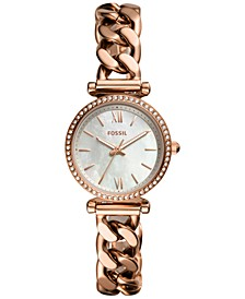 Women's Carlie Mini Rose Gold-Tone Chain Bracelet Watch 28mm