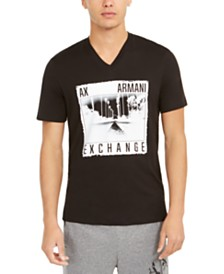 A X Armani Exchange Men's Photo Graphic T-Shirt